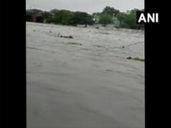 Visual of rains in Telangana. (Photo/ANI)