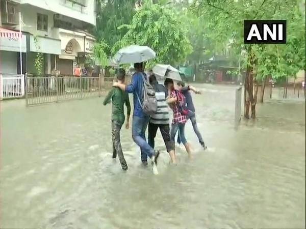 A visual of  Mumbai rains. (Photo/ANI)