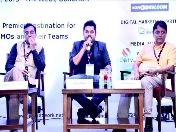 Dr Raj Padhiyar - Founder & CEO, Digital Gurukul interacting with media