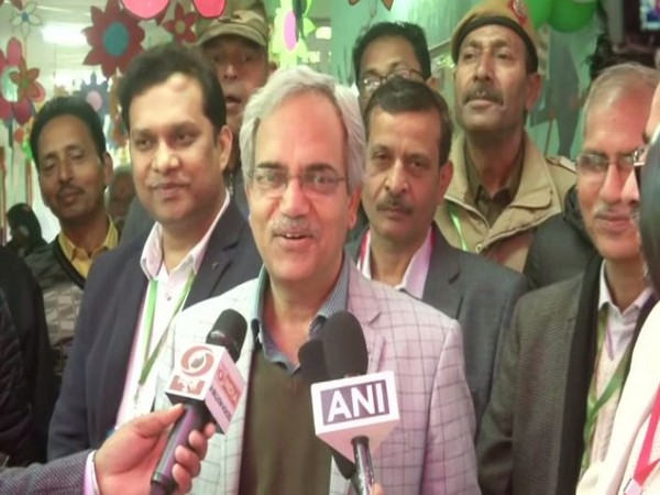 Delhi Chief Electoral Officer (CEO) Ranbir Singh speaking to media persons in New Delhi on Saturday. Photo/ANI