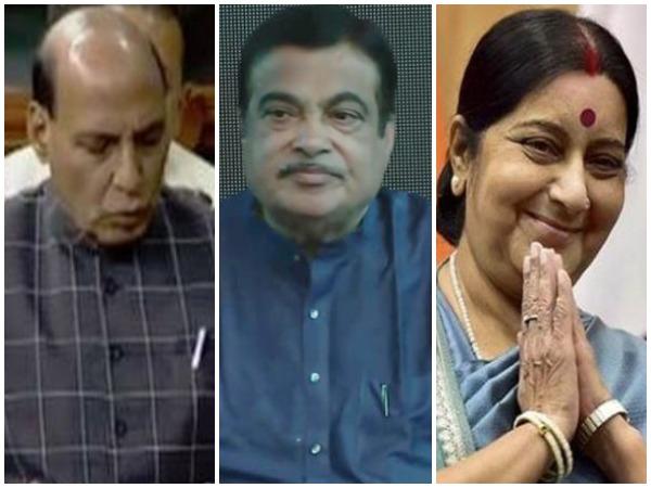 Rajnath Singh, Nitin Gadkari and Sushma Swaraj (File Photos)