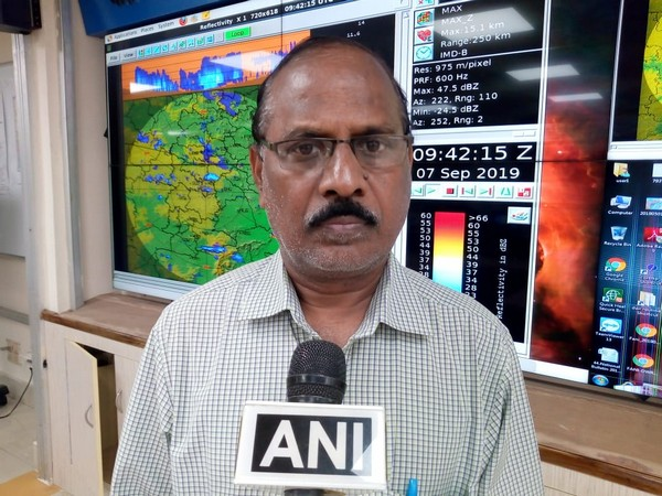 IMD Meteorologist Rama Rao speaking to ANI in Hyderabad, Telangana on Saturday.
