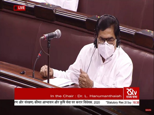Samajwadi Party MP Ram Gopal Yadav in Rajya Sabha on Sunday.