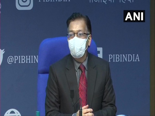 Union Health Secretary Rajesh Bhushan during a press conference in New Delhi on Tuesday, (Photo/ANI)