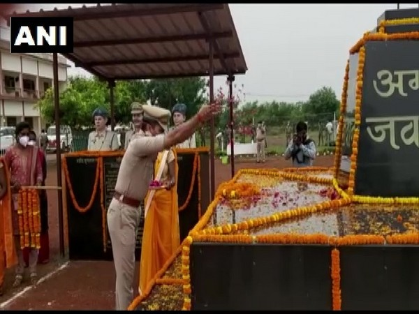 Tributes being paid at Rajnandgaon Police Lines in Chhattisgarh (Photo/ANI)