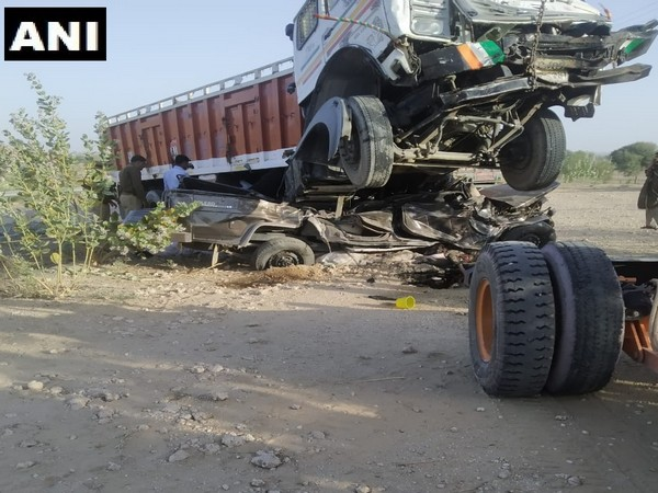 Eleven people were killed in a road accident in Rajasthan. Photo/ANI