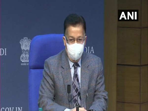 Union Health Secretary Rajesh Bhushan addressing a press conference on Tuesday.