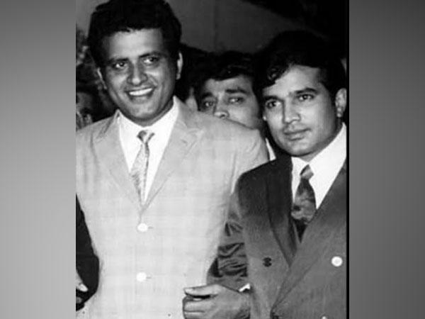 Manoj Kumar with Rajesh Khanna