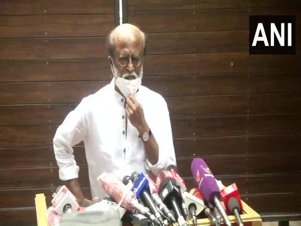 Actor Rajinikanth at a press conference in Chennai on Monday. [Photo/ANI]
