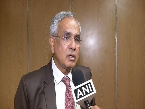NITI Aayog Vice Chairman Rajiv Kumar talking to ANI on Monday in New Delhi. Photo/ANI