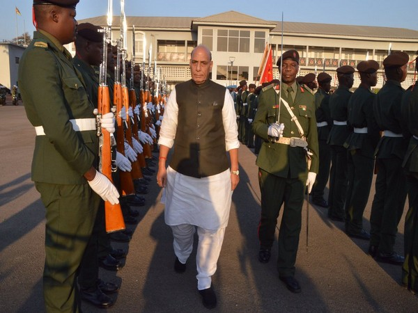 Defence Minister Rajnath Singh visited FADM military headquarters at Maputo on Sunday.