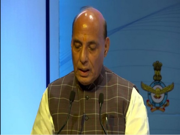 Defence Minister Rajnath Singh addressing a seminar in New Delhi on Tuesday. Photo/ANI