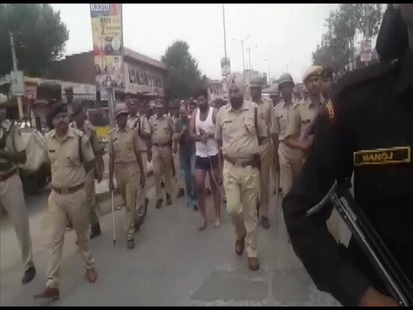 Visual from the parade in Behror, Rajasthan. Photo/ANI