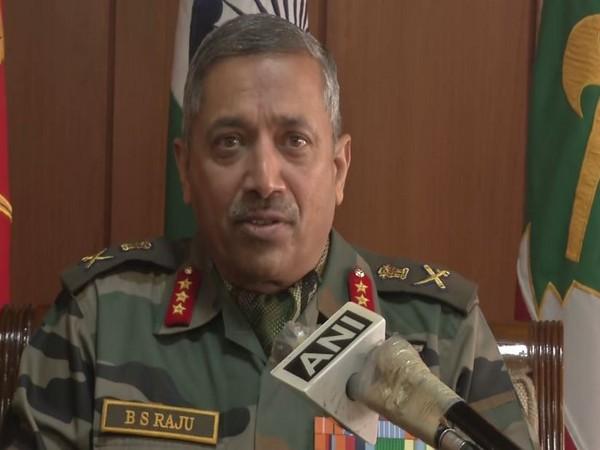 Lieutenant General BS Raju, General Officer Commander (GOC), Chinar Corps (Photo: ANI)