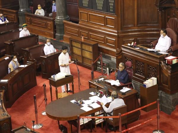 Jyotiraditya Scindia took oath as Rajya Sabha Member on Wednesday.