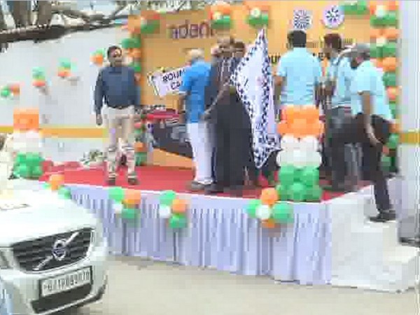 Flagging off of 23rd edition of Round Table Car Rally in Ahmedabad