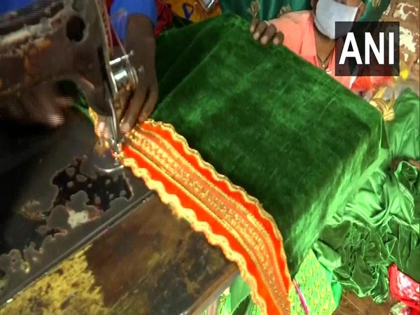 The clothes of Ram Lalla being prepared for the August 5 event in Ayodhya. (Photo/ANI)