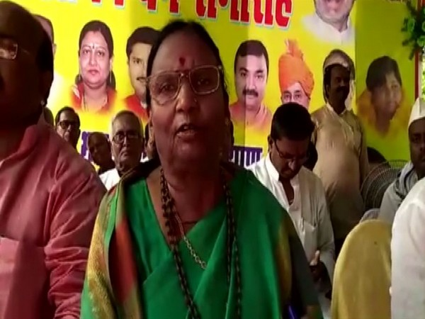 BJP MP Rama Devi at a function in Motihari on Friday. Photo/ANI