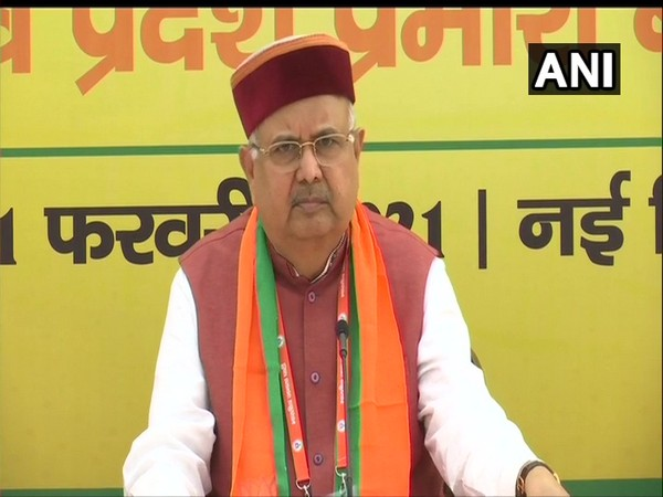 BJP vice president Raman Singh during a press conference in New Delhi on Sunday. (Photo/ANI)