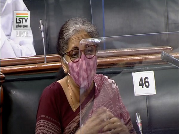 Finance Minister Nirmala Sitharaman speaking in Lok Sabha on Friday.