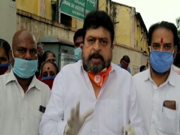 BJP leader N Ramchander Rao in Hyderabad on Wednesday. Photo/ANI