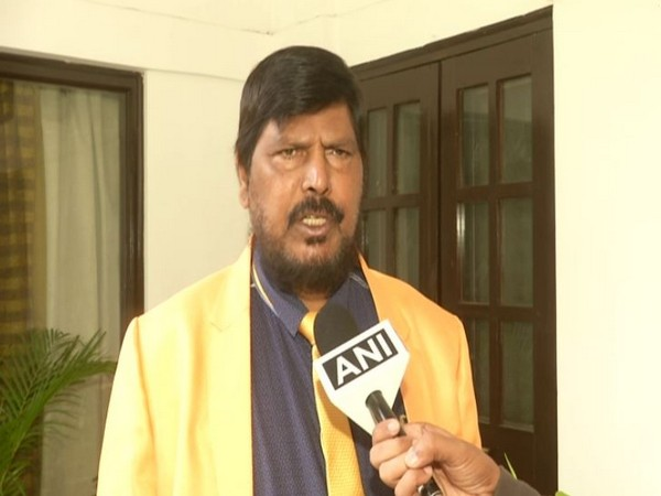 MoS for Social Justice and Empowerment, Ramdas Athawale speaks to ANI in New Delhi on Thursday [Photo/ANI]