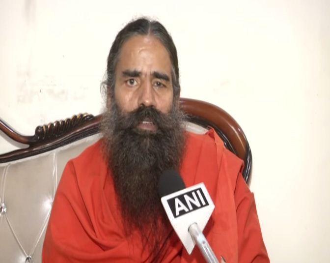 Yoga guru Baba Ramdev speaking to ANI in New Delhi on Thursday. Photo/ANI