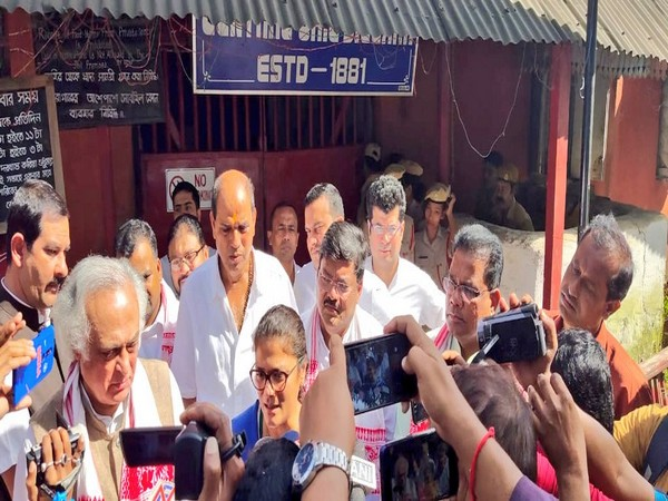 Congress leaders at Silchar Central Jail (Photo courtesy: Ripun Bora)