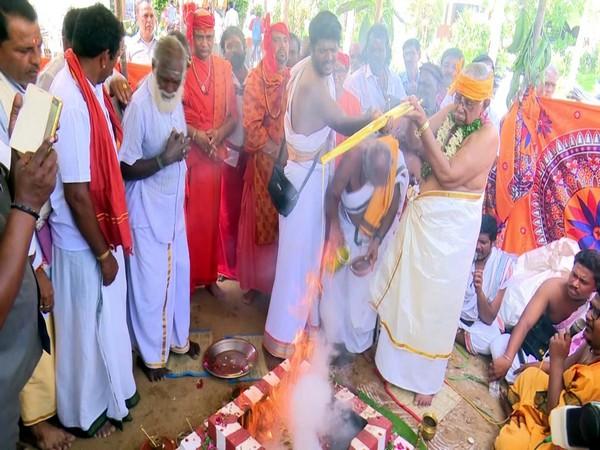 Thae Mahayagam was held  for the world Rameswaram on Thursday. Photo/ANI