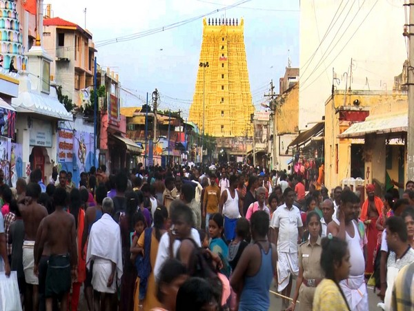 Families of missing fishermen anxiously wait for their loved ones. (Photo/ANI)
