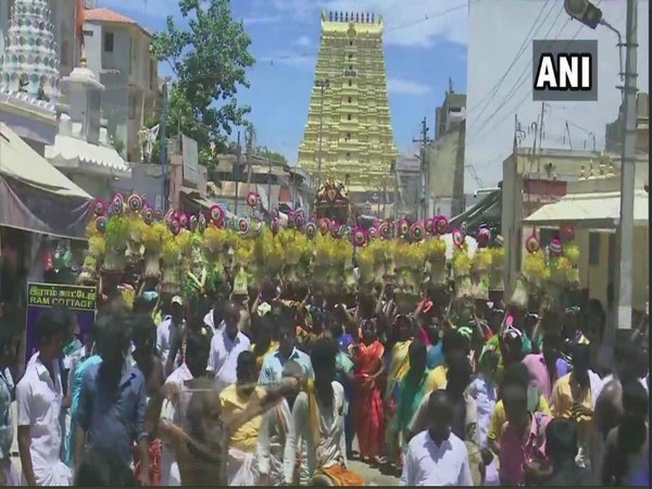 People celebrating Sprout Festival in Rameswaram on Thursday (Photo/ANI)