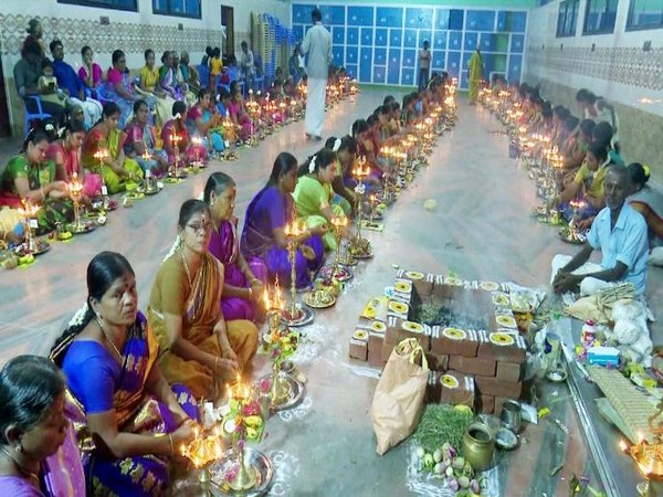 Rameswaram celebrated Vishwakarma puja here at Akkasalai Vinayagar Temple on Wednesday. Photo/ANI