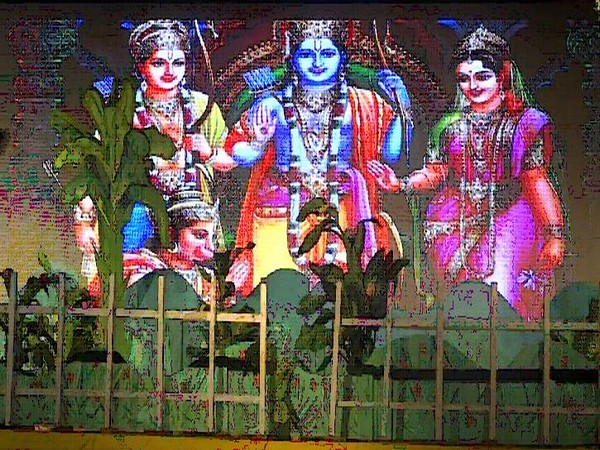 Visual from Ram Leela organised  by Katra Ram Leela Community of Prayagraj. (Photo/ANI)