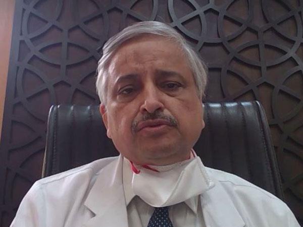 AIIMS Director Dr Randeep Guleria talking to ANI on Wednesday. Photo/ANI