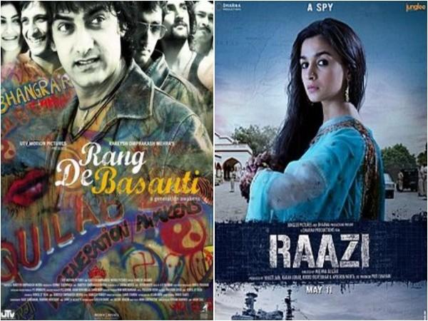 Posters of 'Rang De Basanti' and 'Raazi', Image source: Instagram