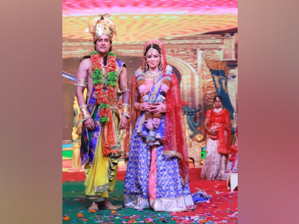 Ramlila artists at Lav Kush Ramlila