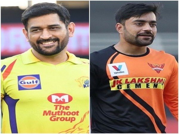 CSK skipper MS Dhoni and SRH spinner Rashid Khan (Image: BCCI/IPL)