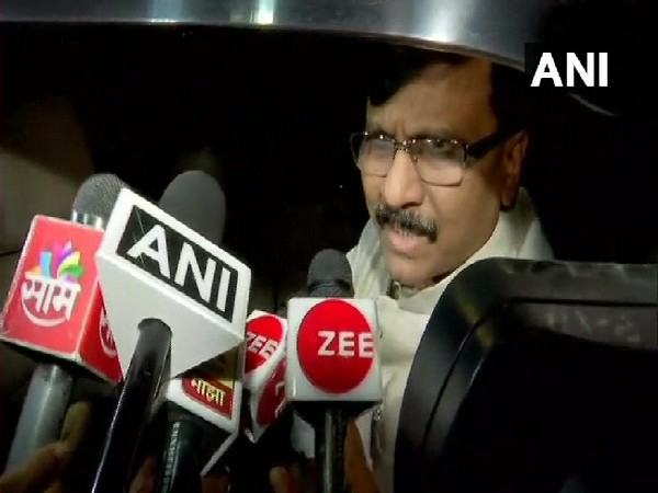 Shiv Sena leader Sanjay Raut speaking to media in Mumbai on Sunday