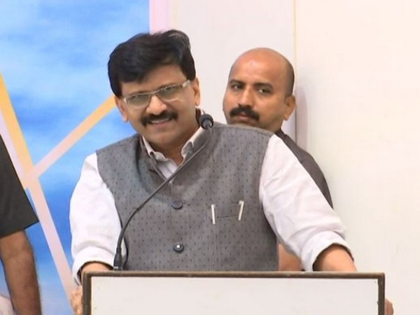 Sanjay Raut addressing an event in Mumbai on Saturday (photo/ANI)