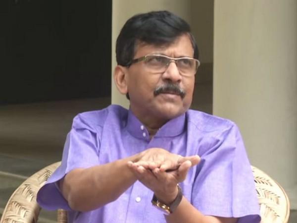 Shiv Sena leader Sanjay Raut addressing media in New Delhi on Thursday