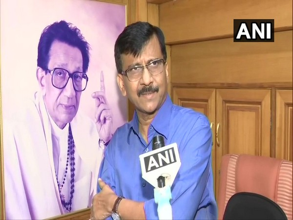 Shiv Sena leader Sanjay Raut speaking to ANI in Mumbai on Tuesday (Photo/ANI)