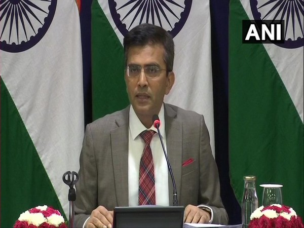 External Affairs spokesperson Raveesh Kumar addressing weekly press briefing in New Delhi on  Thursday.