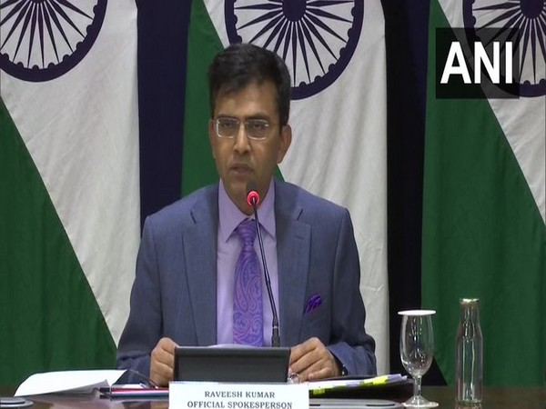 External Affairs Ministry spokesperson Raveesh Kumar speaking at a press briefing in New Delhi on Thursday. Photo/ANI