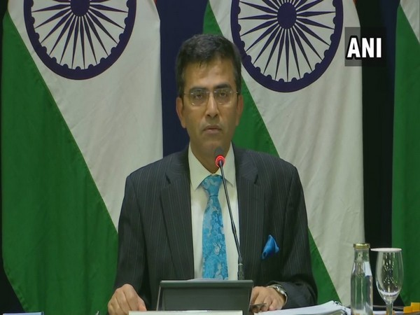 External Affairs Ministry spokesperson Raveesh Kumar addressing media in New Delhi on Thursday