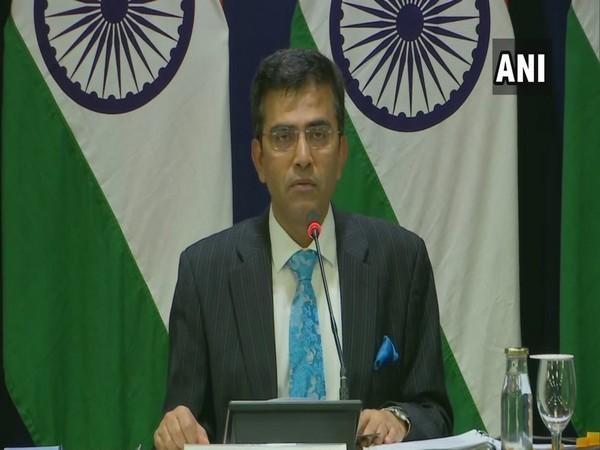 External Affairs Ministry spokesperson Raveesh Kumar at a press briefing in New Delhi on Thursday