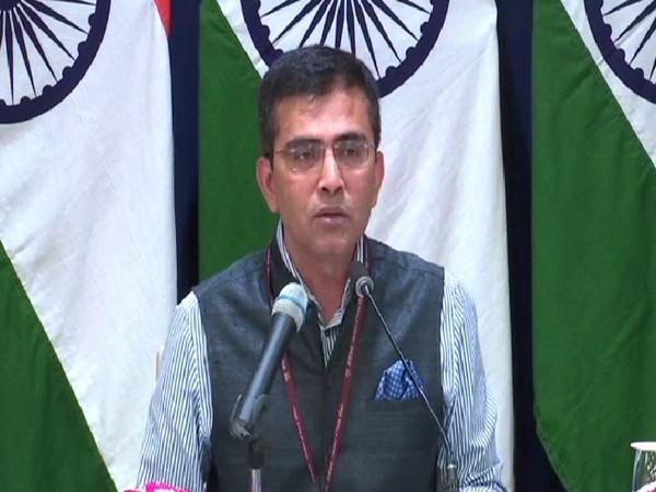 Raveesh Kumar, spokesperson of Ministry of External Affairs (MEA), speaking to media on Thursday in New Delhi. Photo/ANI
