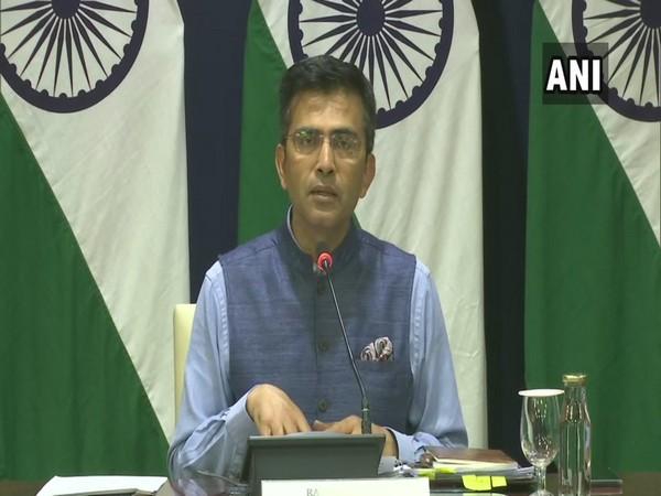 External Affairs Ministry spokesperson Raveesh Kumar at a press briefing in New Delhi on Thursday.