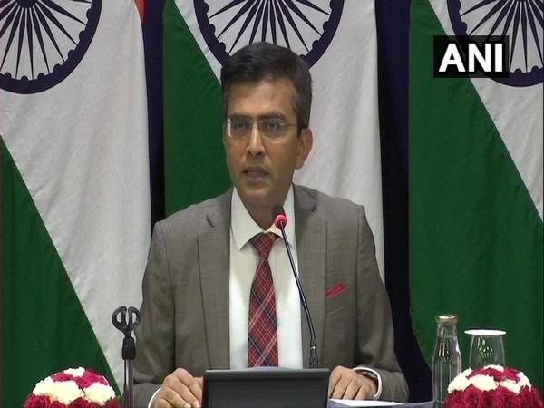 MEA spokesperson Raveesh Kumar at a media briefing in New Delhi on Thursday.