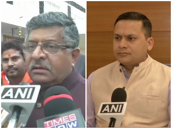 Union Minister Ravi Shankar Prasad (left) and BJP IT cell in-charge Amit Malviya speaking to ANI on Monday.