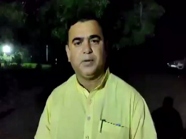 BJP minister Jay Kumar Rawal speaking to media persons on Sunday in Dhule. Photo/ANI